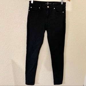NWOT 7 For All Mankind Black The Skinny Jeans 27